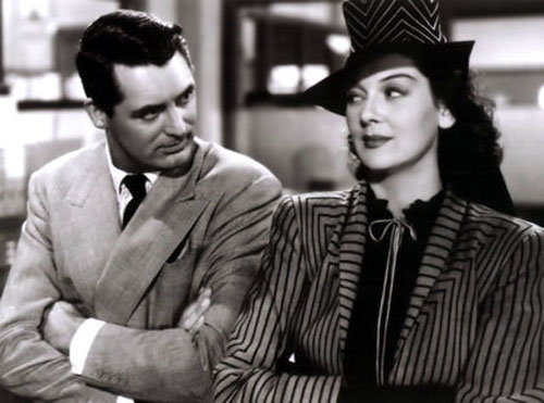 Cary Grant, Rosalind Russell in His Girl Friday