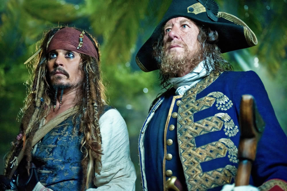 Johnny Depp, Geoffrey Rush, Pirates of the Caribbean: On Stranger Tides