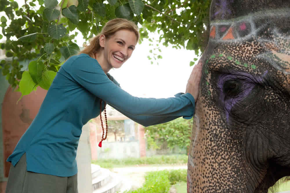 Julia Roberts, elephant, Eat Pray Love