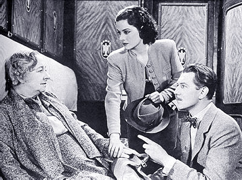 Dame May Whitty, Margaret Lockwood, Michael Redgrave in The Lady Vanishes