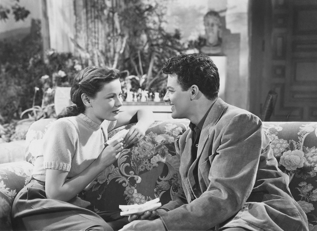 Gene Tierney, Cornel Wilde in Leave Her to Heaven