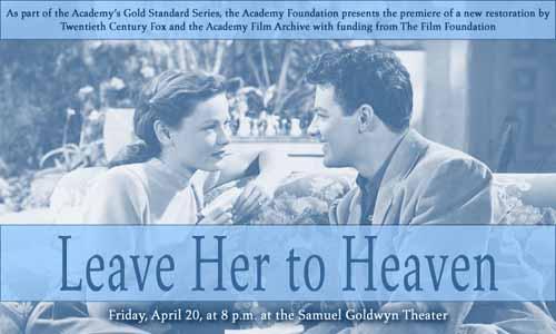 Gene Tierney, Cornel Wilde in Leave Her to Heaven by John M. Stahl