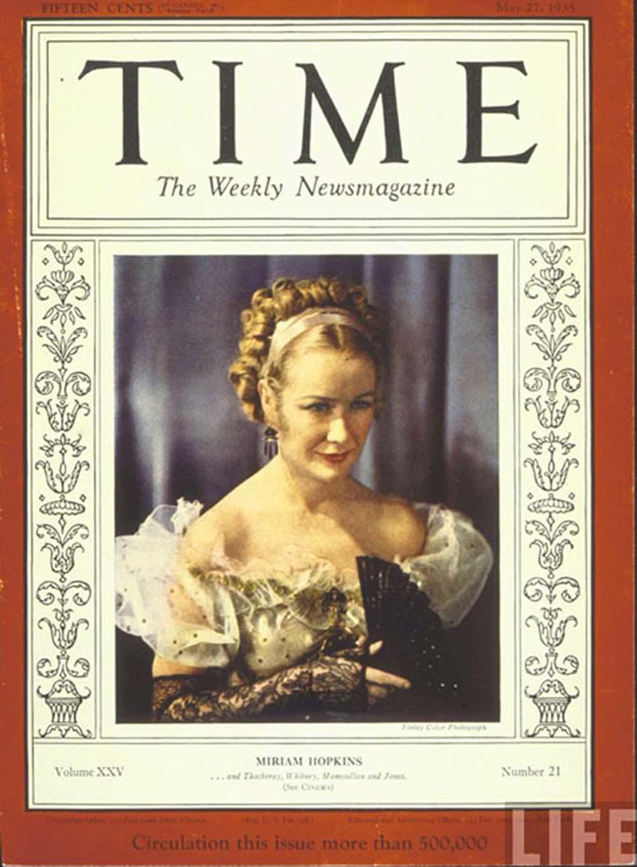 Miriam Hopkins Time cover