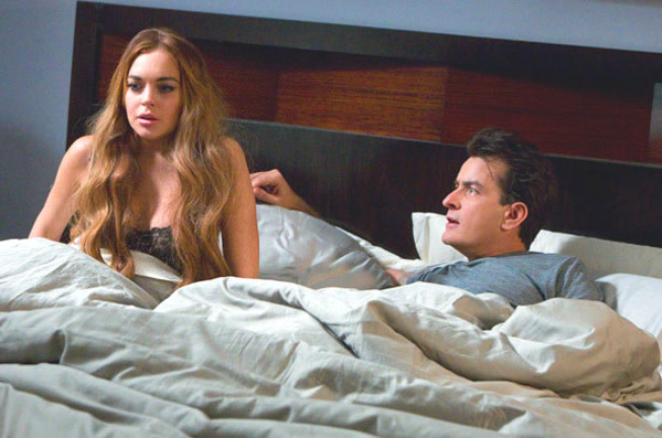 Lindsay Lohan Scary Movie 5 Charlie Sheen