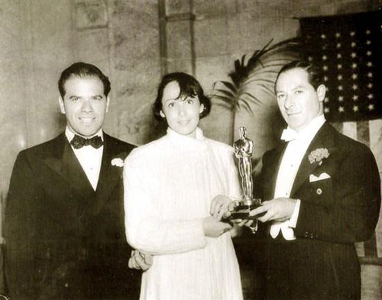 Frank Capra, Luise Rainer, George Jessel