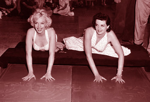 Marilyn Monroe, Jane Russell, Hollywood Chinese Theatre