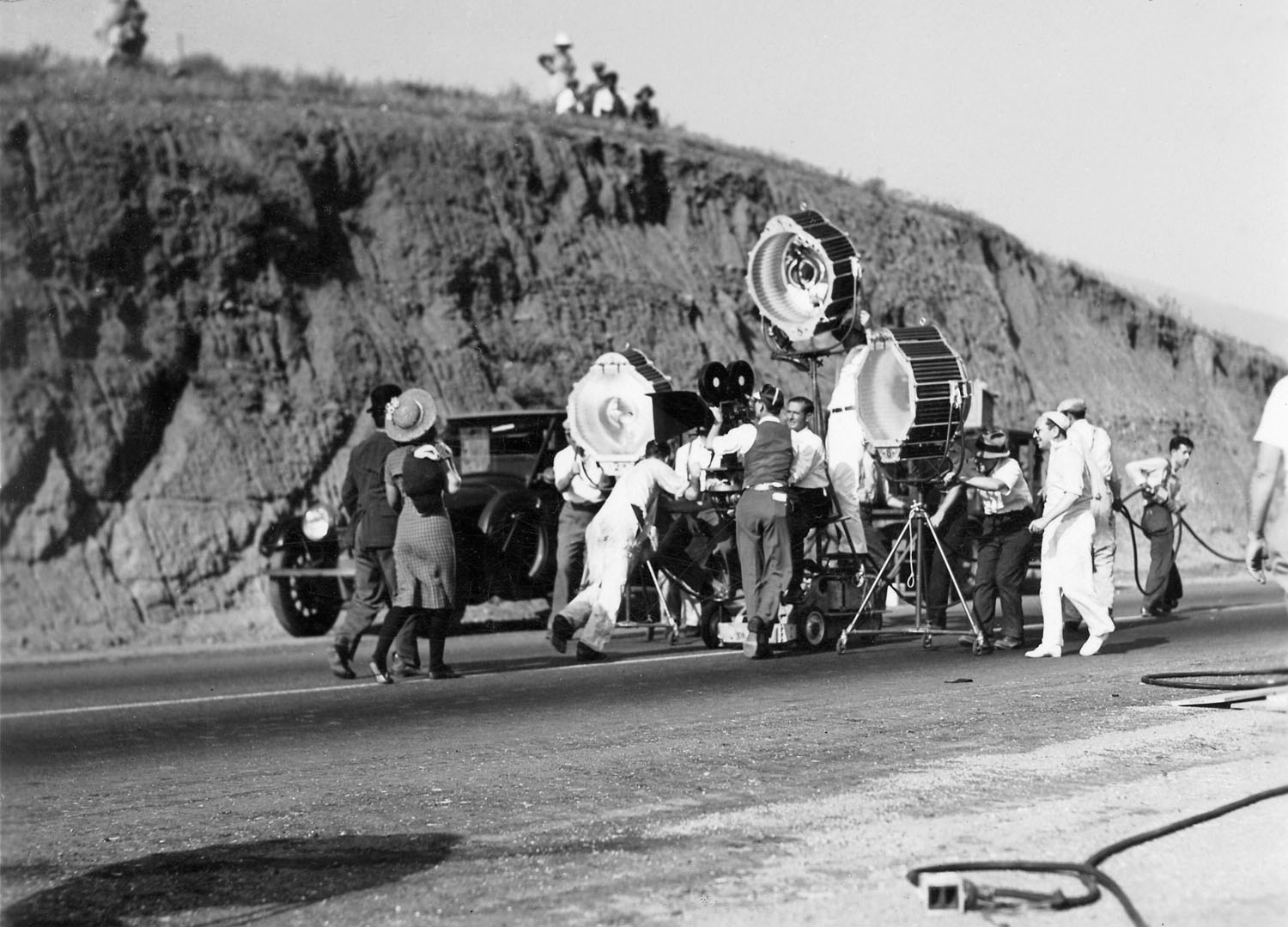 Filming Paulette Goddard and Charles Chaplin in Modern Times