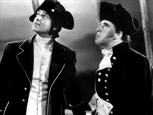 Clark Gable, Charles Laughton in Mutiny on the Bounty
