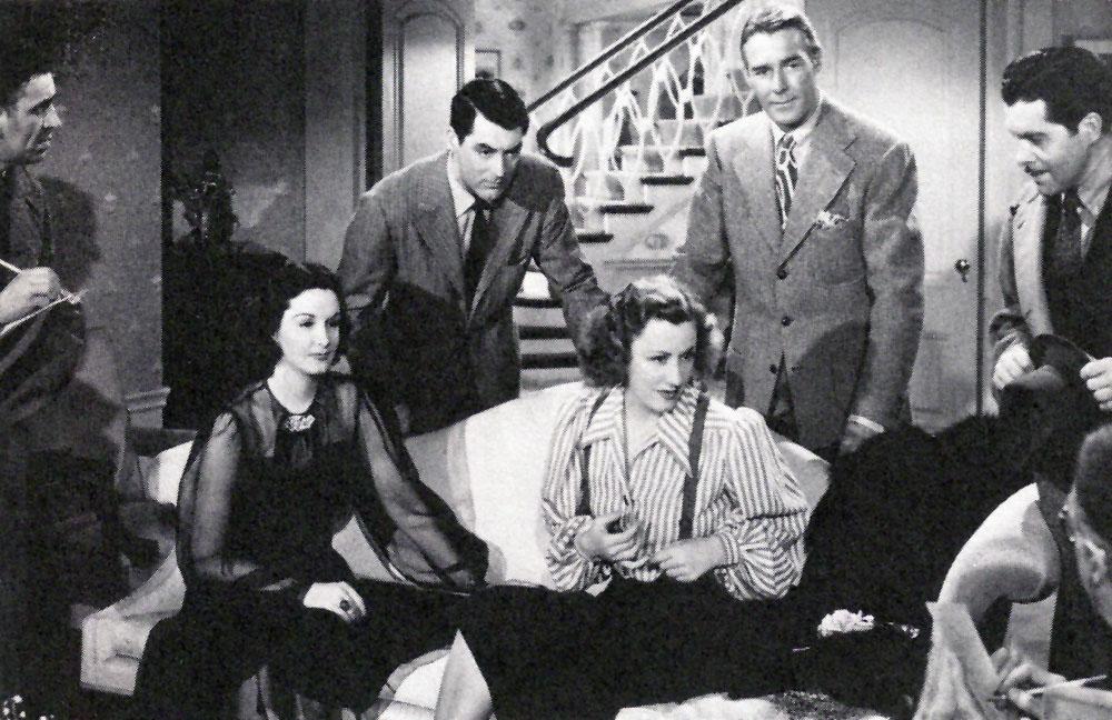 Cary Grant, Gail Patrick, Irene Dunne, Randolph Scott in My Favorite Wife