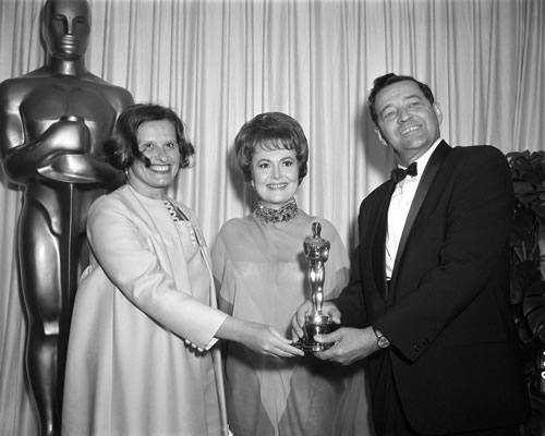 Olivia de Havilland, John Hubley, Faith Hubley