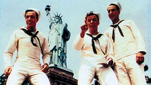Gene Kelly, Frank Sinatra, Jules Munshin in On the Town