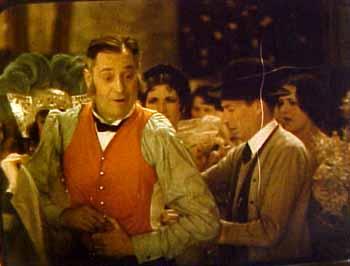 Sam Hardy and Lee Moran in On with the Show! (1929) directed by Alan Crosland, starring Arthur Lake, Betty Compson, Joe E. Brown, Sally O'Neil, Louise Fazenda