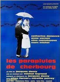 Les Parapluies de Cherbourg (1964) directed by Jacques Demy, starring Catherine Deneuve, Nino Castelnuovo, Anne Vernon