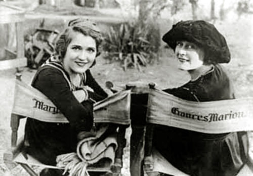Mary Pickford and Frances Marion