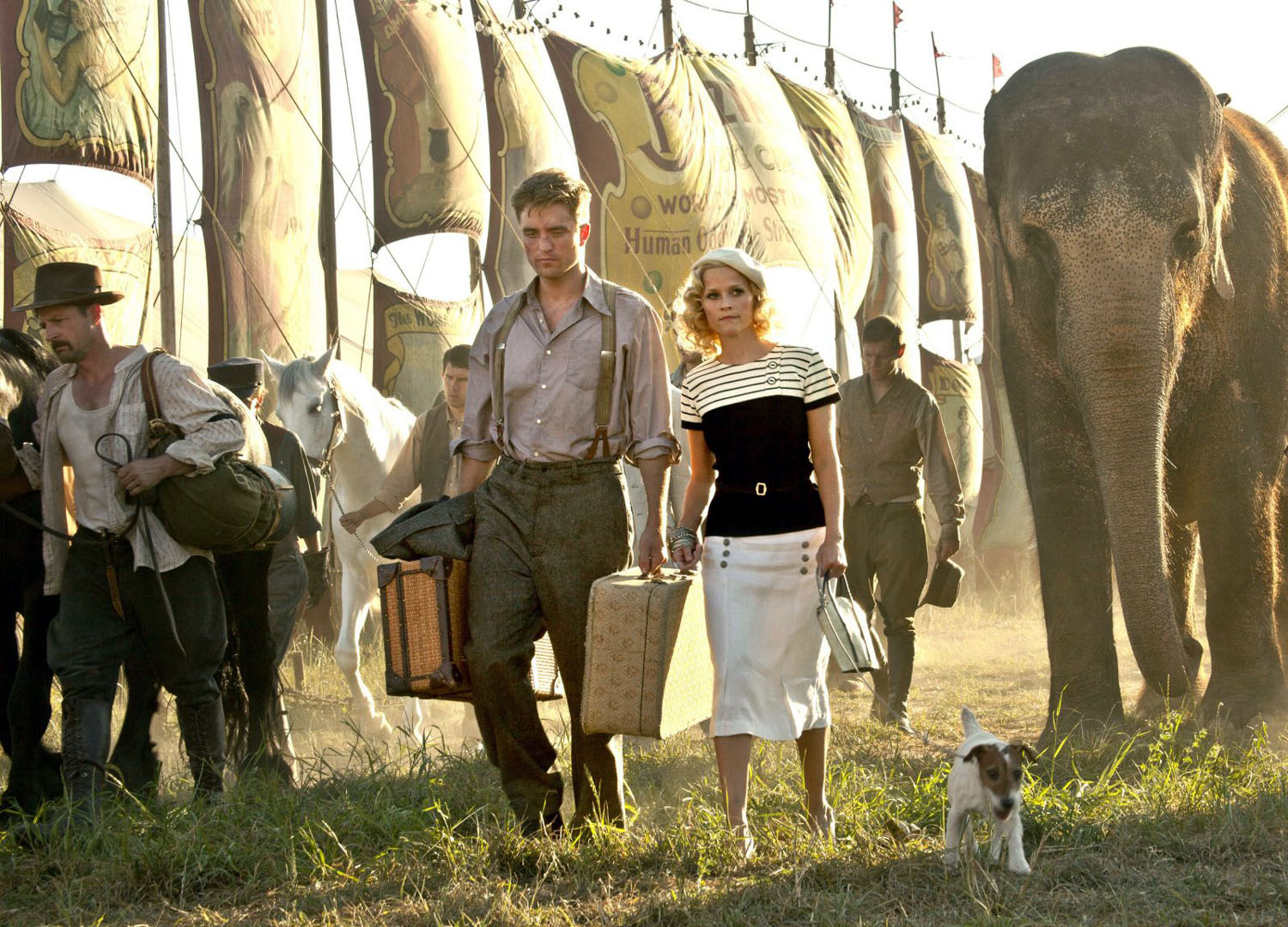 Robert Pattinson,  Reese Witherspoon, Tai Rosie, Water for Elephants