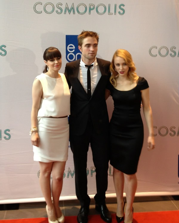 Robert Pattinson 2012 Cosmopolis premiere Sarah Gadon Emily Hampishire