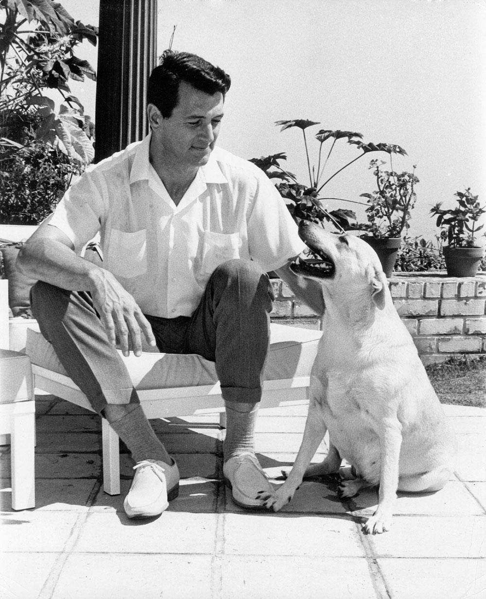 Rock Hudson & Dog