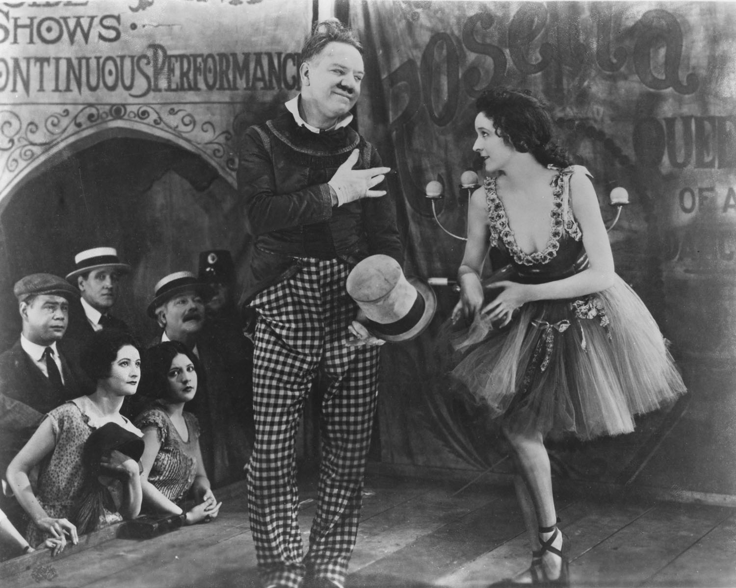 W.C. Fields, Carol Dempster in Sally of the Sawdust