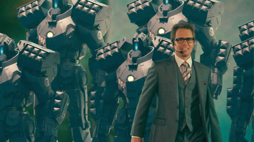 Sam Rockwell in Jon Favreau's Iron Man 2