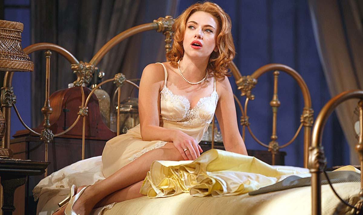 Scarlett Johansson Cat on a Hot Tin Roof