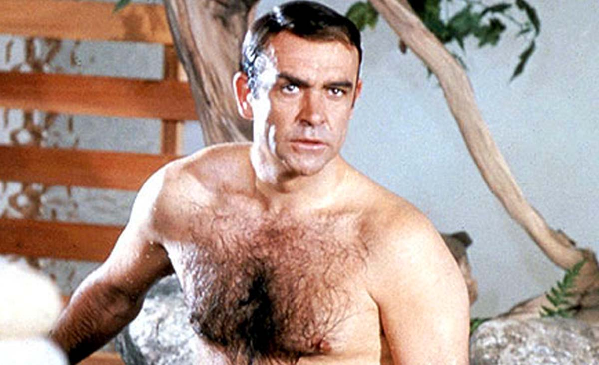 Sean Connery shirtless