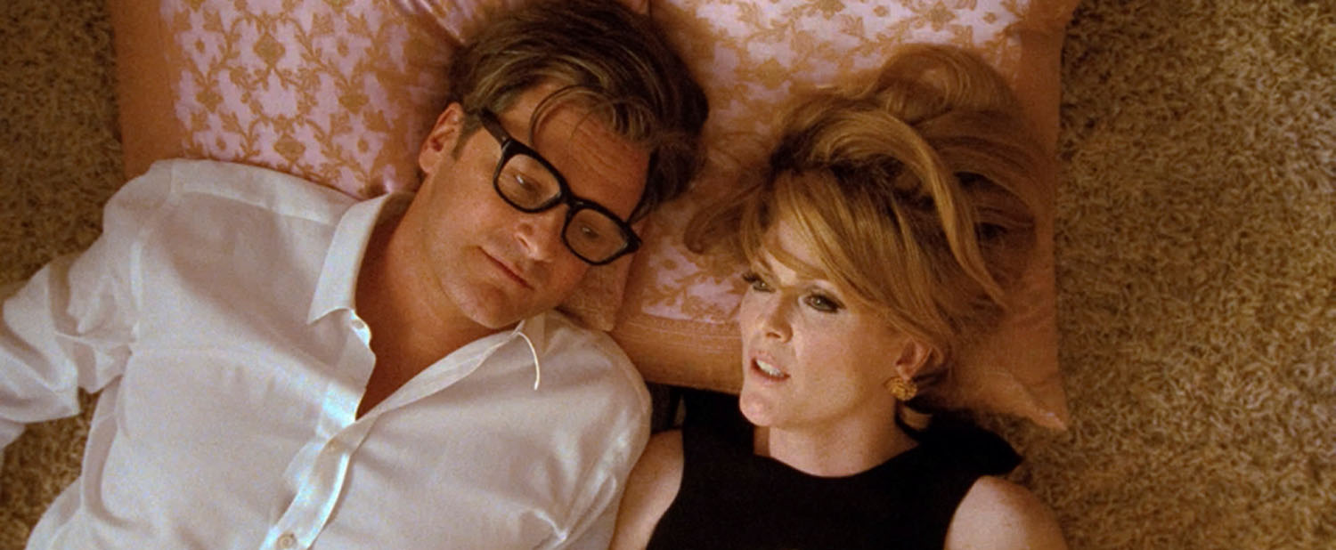 Colin Firth, Julianne Moore in A Single Man