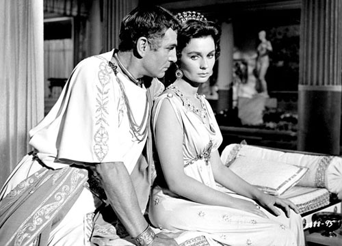 Laurence Olivier, Jean Simmons in Spartacus