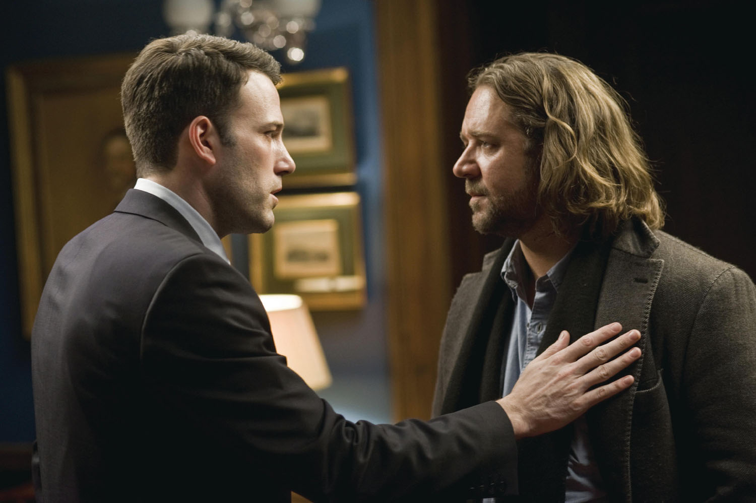 Ben Affleck, Russell Crowe in State of Play