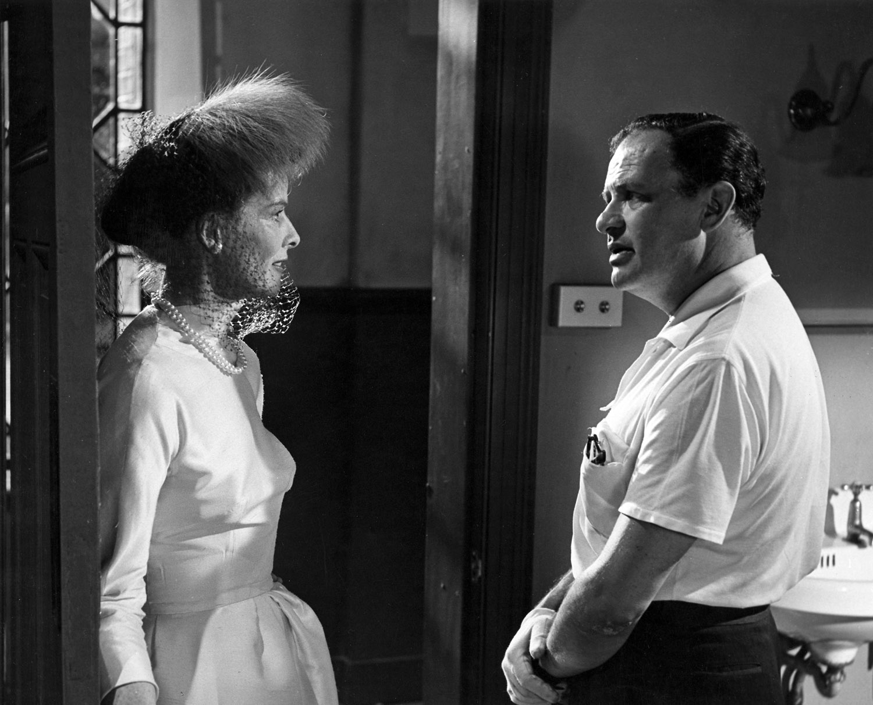 Katharine Hepburn, Joseph L. Mankiewicz on set of Suddenly Last Summer