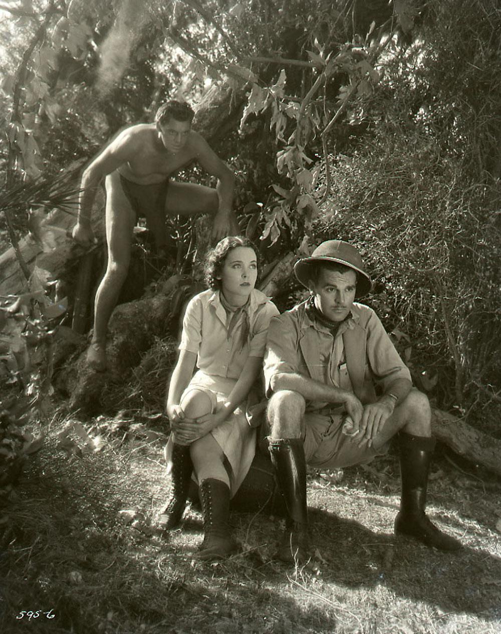Johnny Weismuller, Maureen O'Sullivan, Neil Hamilton in Tarzan the Ape Man