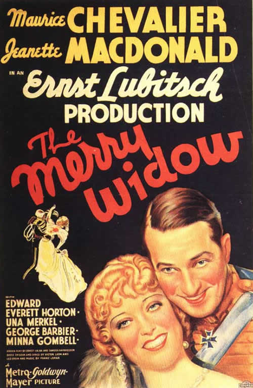The Merry Widow, Maurice Chevalier, Jeanette MacDonald