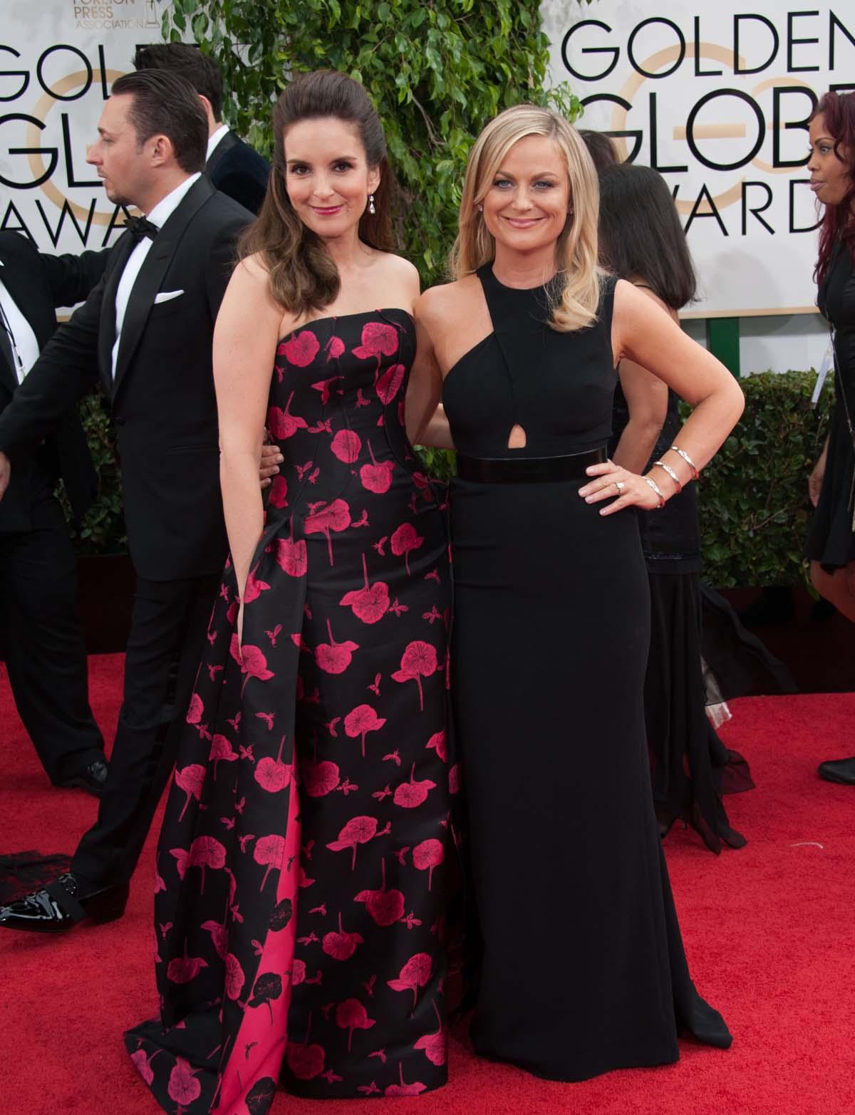 Tina Fey Amy Poehler Golden Globes Red Carpet
