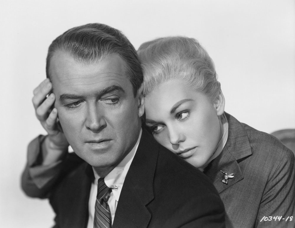 James Stewart, Kim Novak in Vertigo