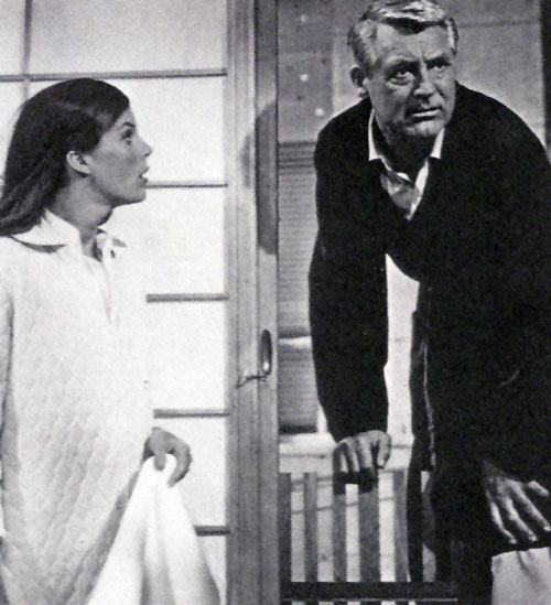 Cary Grant, Samantha Eggar in Walk, Don't Run