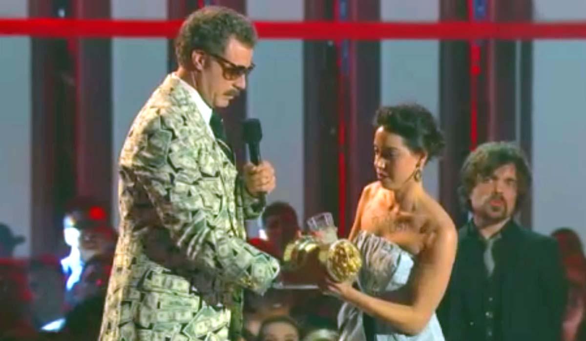 Will Ferrell Aubrey Plaza MTV Movie Awards 2013