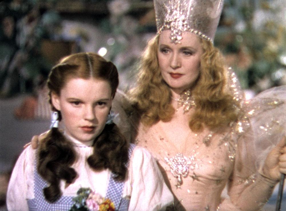 Judy Garland, Billie Burke in The Wizard of Oz