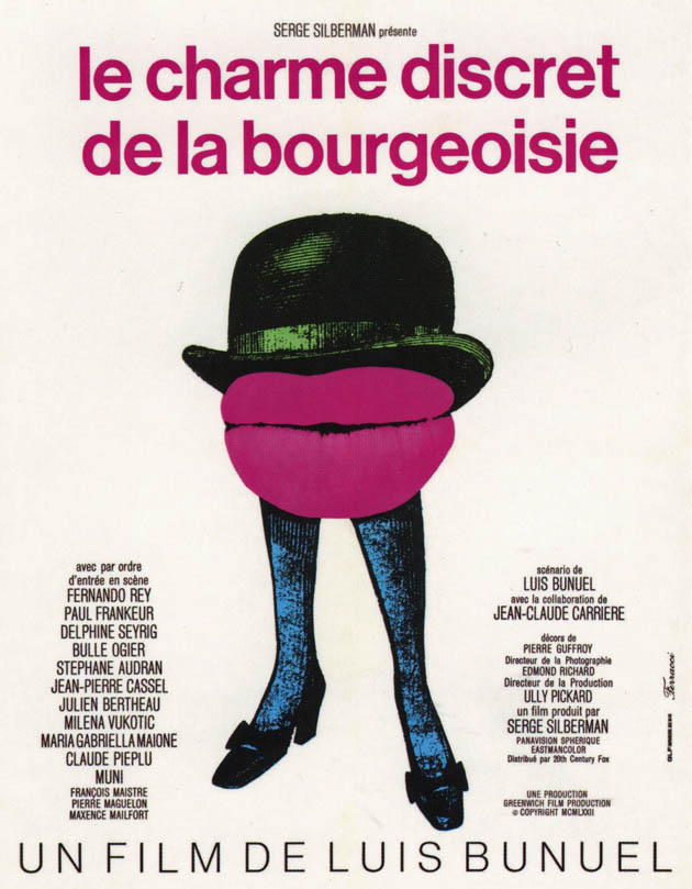 The Discreet Charm of the Bourgeoisie poster: Anarchist Best Foreign Language Film Oscar