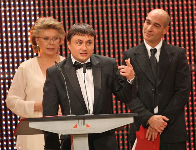 Cristian Mungiu Jean-Marc Barr Viviane Reding European Film Awards