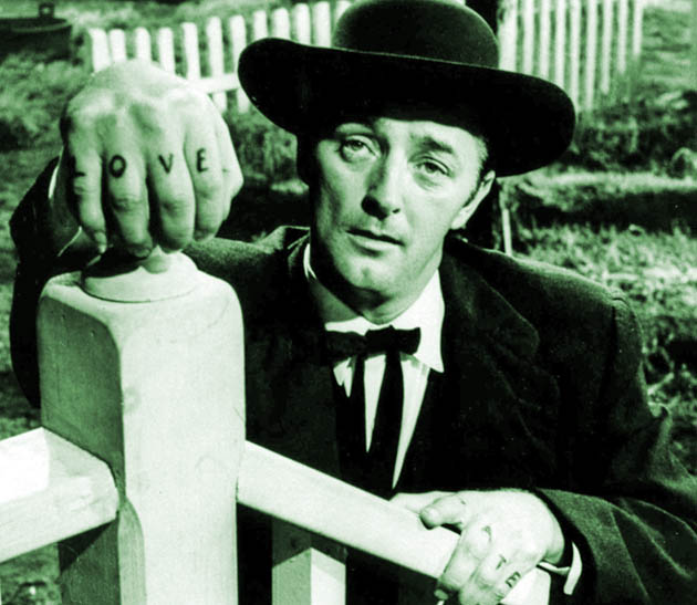 Robert Mitchum The Night of the Hunter: Perfectly miscast psychopathic murderer