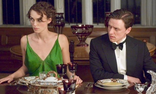 Atonement Keira Knightley James McAvoy: Oscar ballot preferential voting system victim?