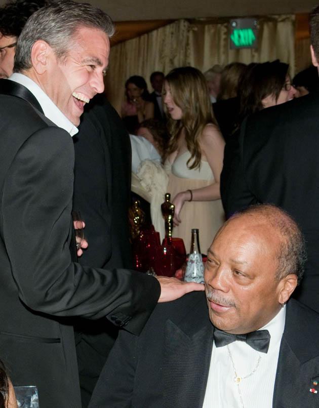 George Clooney, Quincy Jones