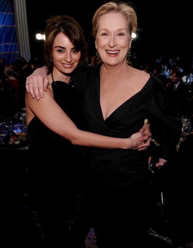 Penélope Cruz Meryl Streep SAG Awards: 2x Best Actress winner TV + movies