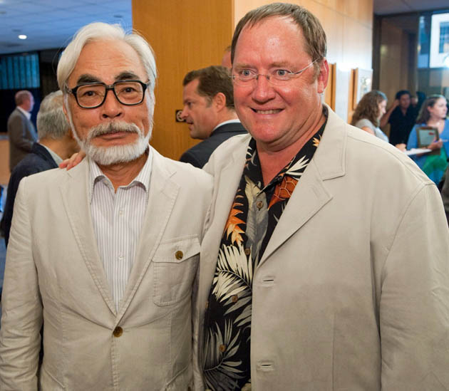 Hayao Miyazaki John Lasseter Pixar animation artist