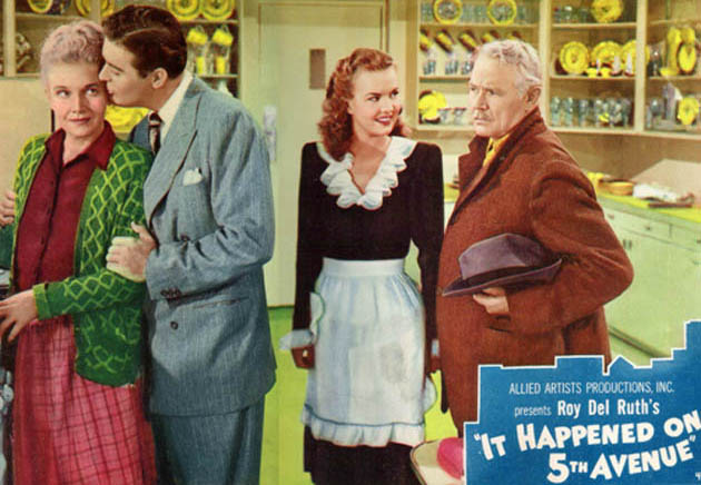 Classic Christmas movies: It Happened on Fifth Avenue Ann Harding Don DeFore Gale Storm Victor Moore: Charity virtue