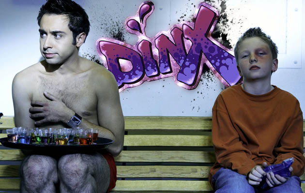 Dinx gay short comedy seized by customs: Men's burlesque club bartender tale