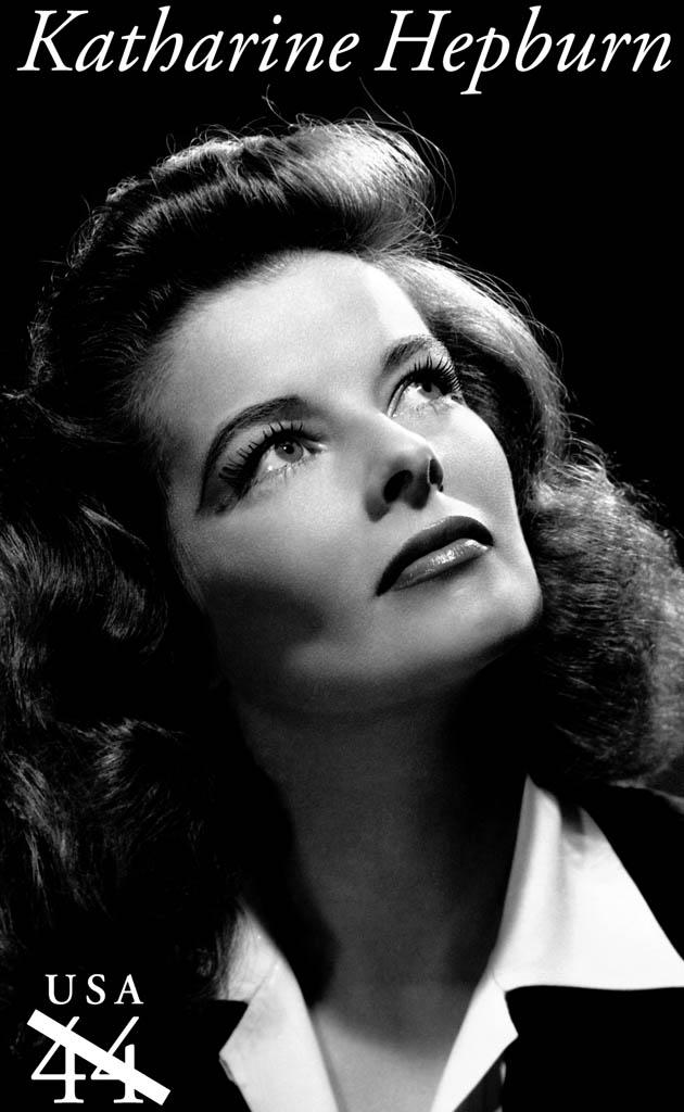 Movie star stamps: Katharine Hepburn on Legends of Hollywood commemorative USPS series