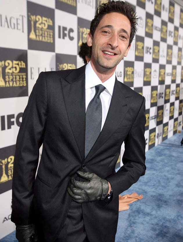 Adrien Brody One Spirit Award nomination