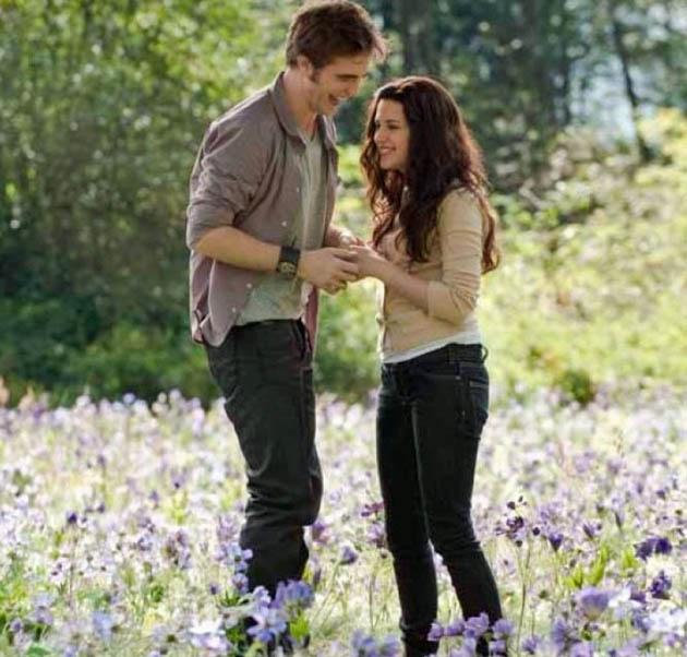 Robert Pattinson and Kristen Stewart meadow madness before Eclipse death