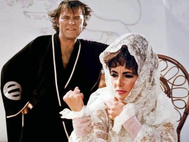 Boom movie with Elizabeth Taylor Richard Burton: dysfunctional bickering after Virginia Woolf
