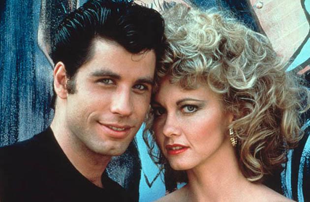 Christmas films: Grease John Travolta Olivia Newton-John. Swishy macho gets girl